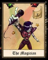Undertale tarot - 1 - The Magician by JayJayRey