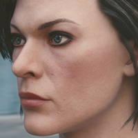 3d model Mila Jovovich 1