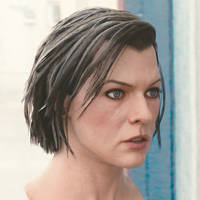 3d model Milla Jovovich head V3 A 4