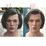 3d model Milla Jovovich head V1 V2 by steplont