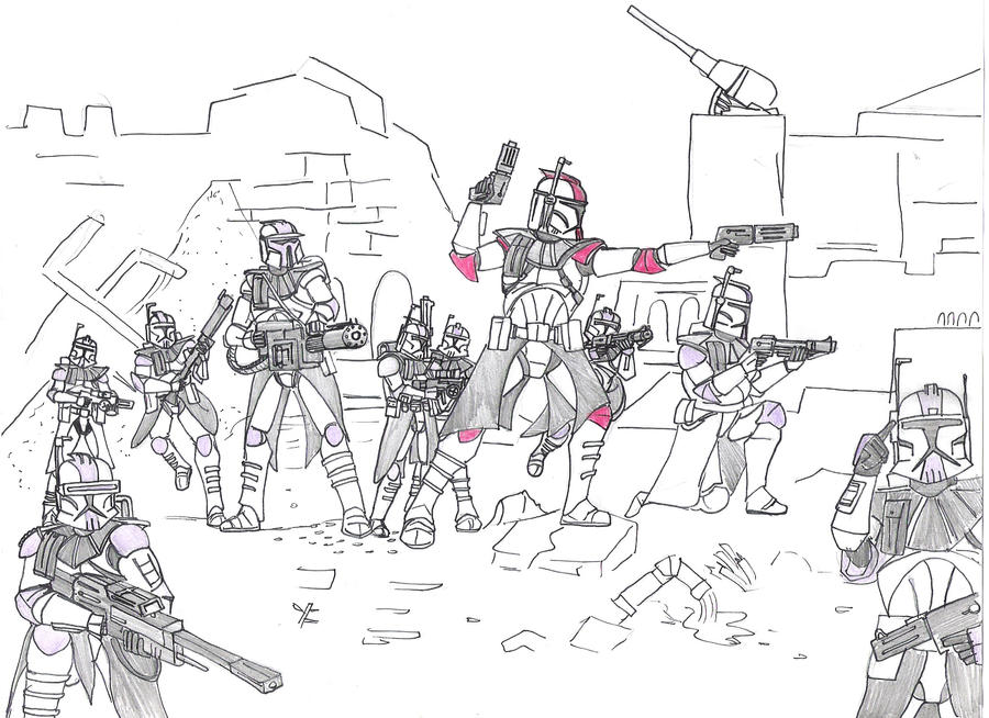 Clone wars by arcsquad12 on deviantart for Star wars clone wars coloring pages