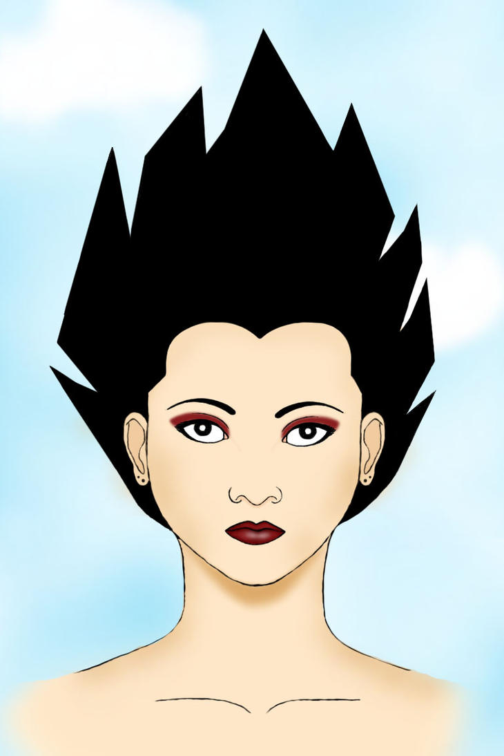 Female Vegeta by VegetaGirl2k2