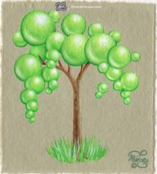 Greenapplelm (2) Bonsai Bubble Tree