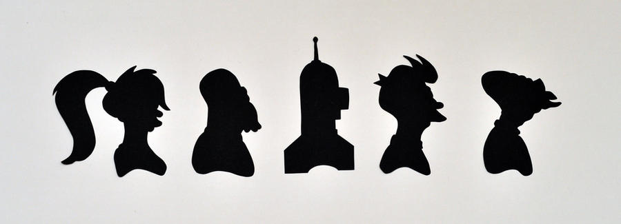 Futurama Silhouette Set by fit51391