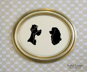 Lady and the Tramp Silhouettes