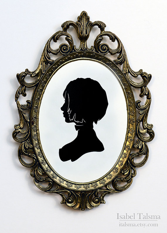 Elizabeth Bioshock Infinite Handcut Silhouette by fit51391