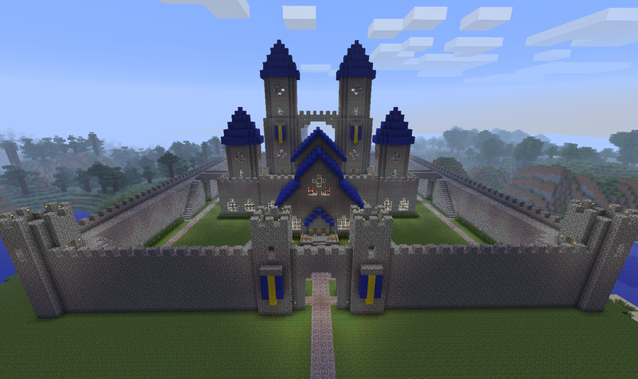 Minecraft castle by cj64 on deviantart for Final fortress blueprints