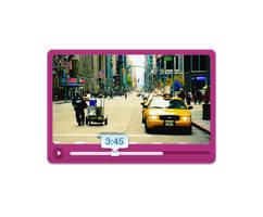 Beautiful Pink glossy media Player by psdzzz