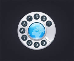 world map with phone dialer Contact us by psdzzz