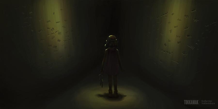 Speedpaint: Labyrinth's empty child by tokkamak