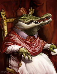POPE CROCODILE by JaumeCullell