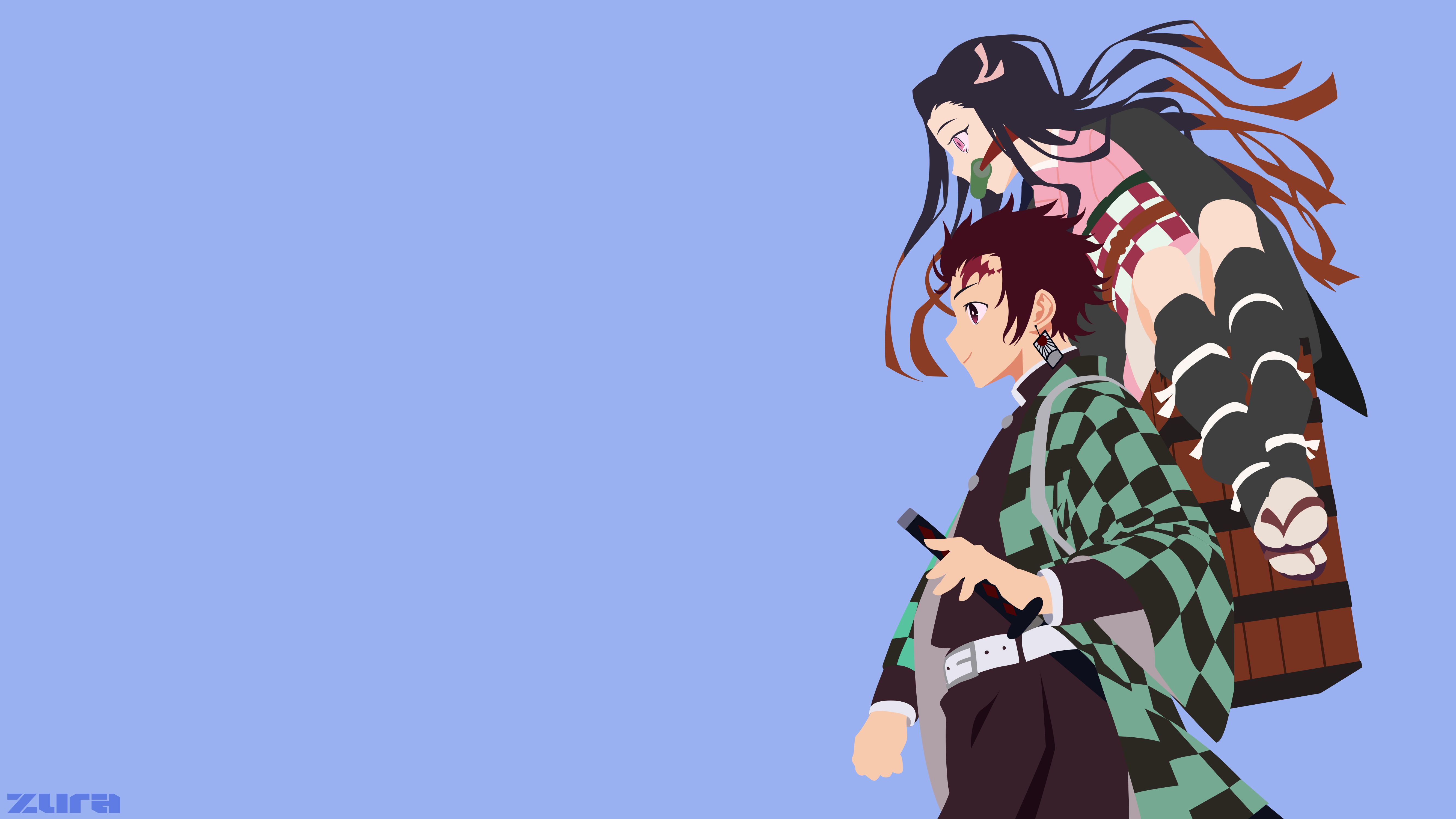 Tanjirou And Nezuko Kimetsu No Yaiba By Codenamezura On