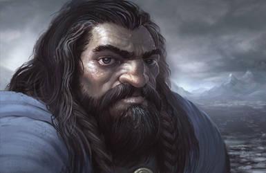 Portrait of Thorin Oakenshield by joelhustak