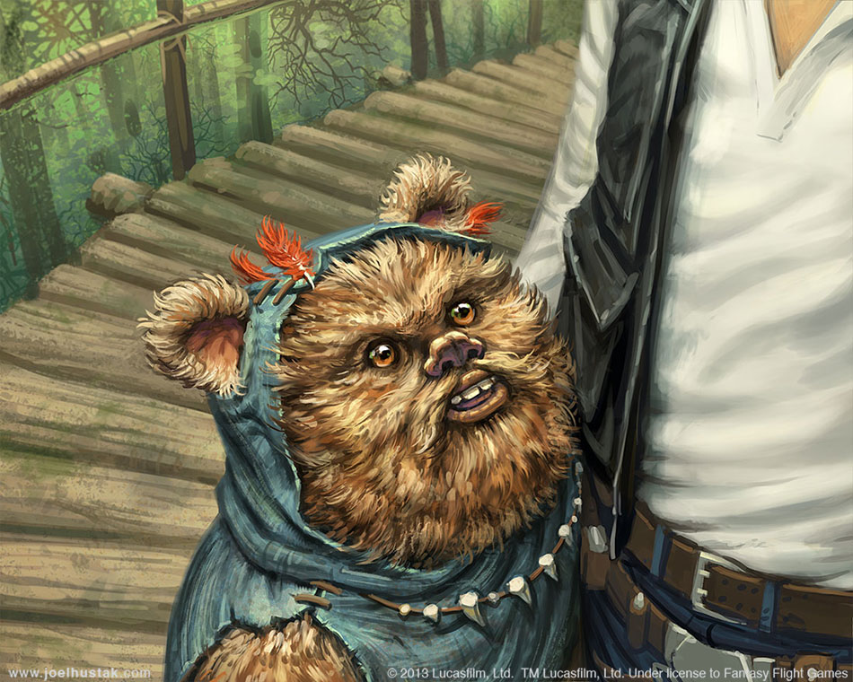 Ewok Companion by joelhustak