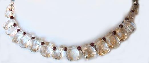 Citrine and Garnet Necklace 2 by Lunablix