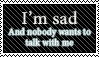 Sad stamp by SwanRose