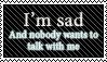 Sad stamp by SwanRose