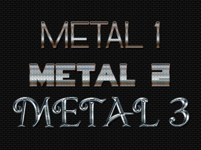 metal text effects free psd