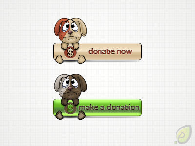 Donate Buttons - Free PSD