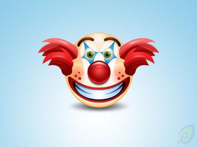 Clown Icon Free PSD