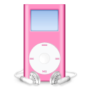 Pink iPod icon by PinkLovin