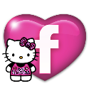 Facebook Icon w Hello Kitty by PinkLovin