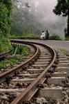 Toy train tracks
