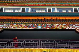 Young monk at Sakya Monastery by bingbing51