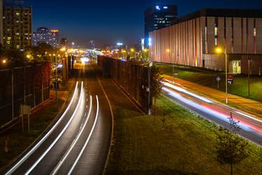 Katowice at night by mission-vao
