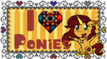 SGLH Stamp I love ponies by PikachuckXD