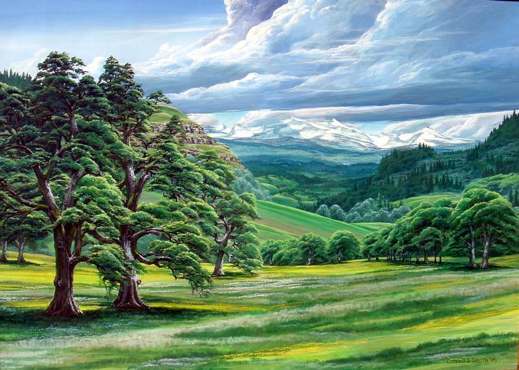 pleasant valley meadow by LowellSSmithART
