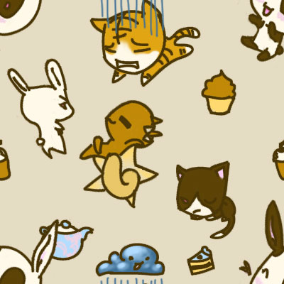 Animal Cafe Tile By Lucky Cricket 33