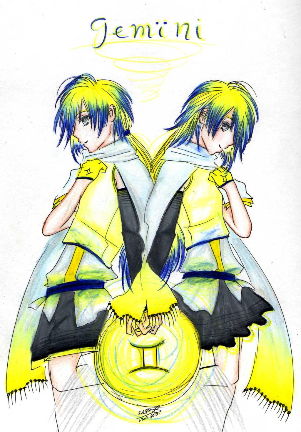 Anime Characters Gemini : Zodiac signs gemini by berichan on deviantart