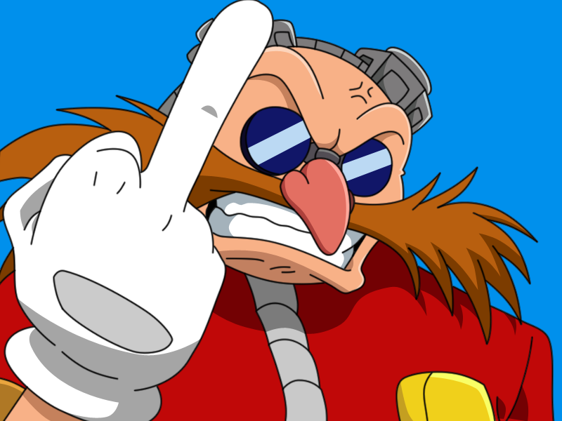 Eggman gives the finger by Shadz-the-Fox on DeviantArt
