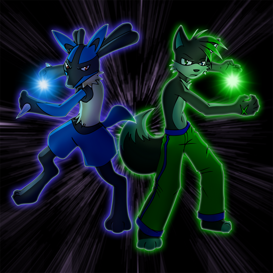 Lucario And Shadz Used Aura Sphere By The Fox