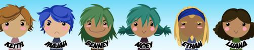 Emerald Rising Chibi Crew by Zanaffar
