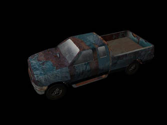 low poly pick up truck by Zach91
