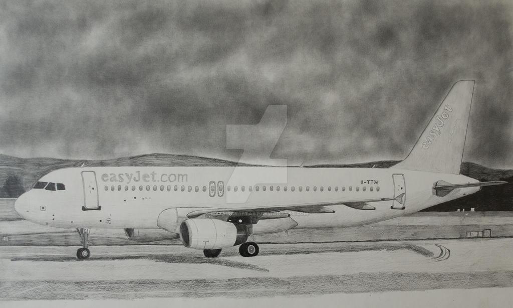 Easyjet Drawing By Kmsaircraftart On Deviantart