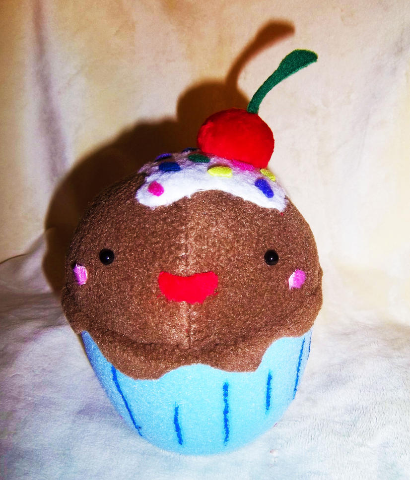 cute plush chocolate cupcake - photo #31