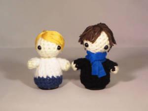 Sherlock and Watson Amigurumi