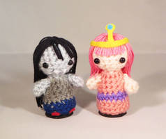 Princess Bubblegum and Marceline Amigurumi!