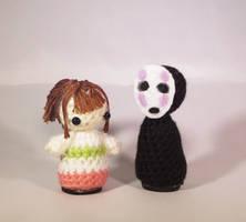 Spirited Away Chihiro and No Face Amigurumi