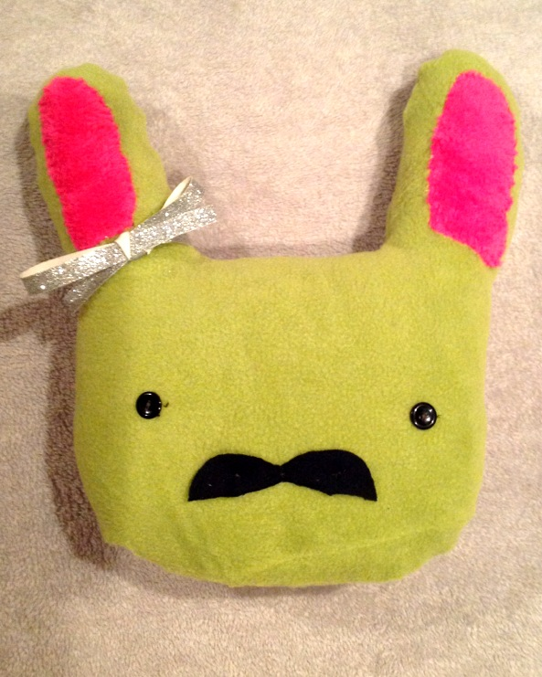 Stache Bunny Plushie by BakuchanBaku