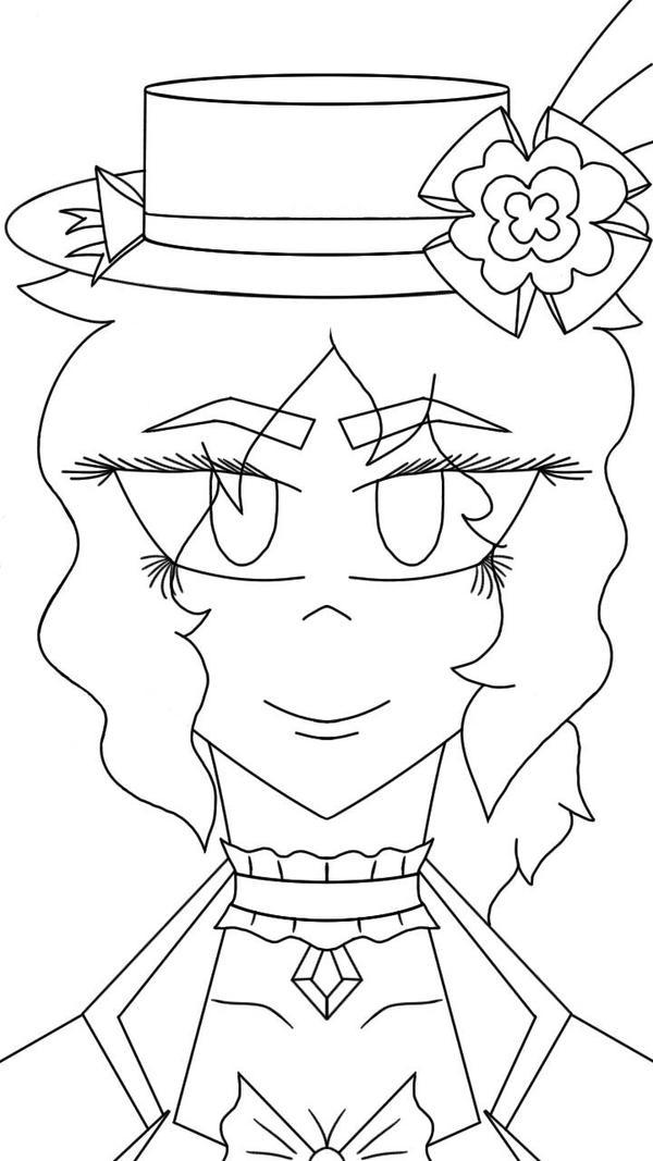 Portrait Lineart of Miss Ru by djrazstreet