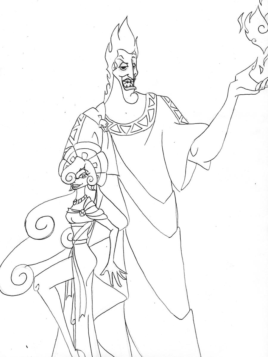 Disney hades and persephone by uav on deviantart for Hades coloring page