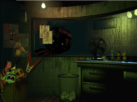 Withered BB at window FNAF 3 by rudi888 on DeviantArt