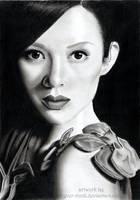 Zhang Ziyi II by OliviasArtwork