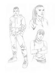character studies in pencil