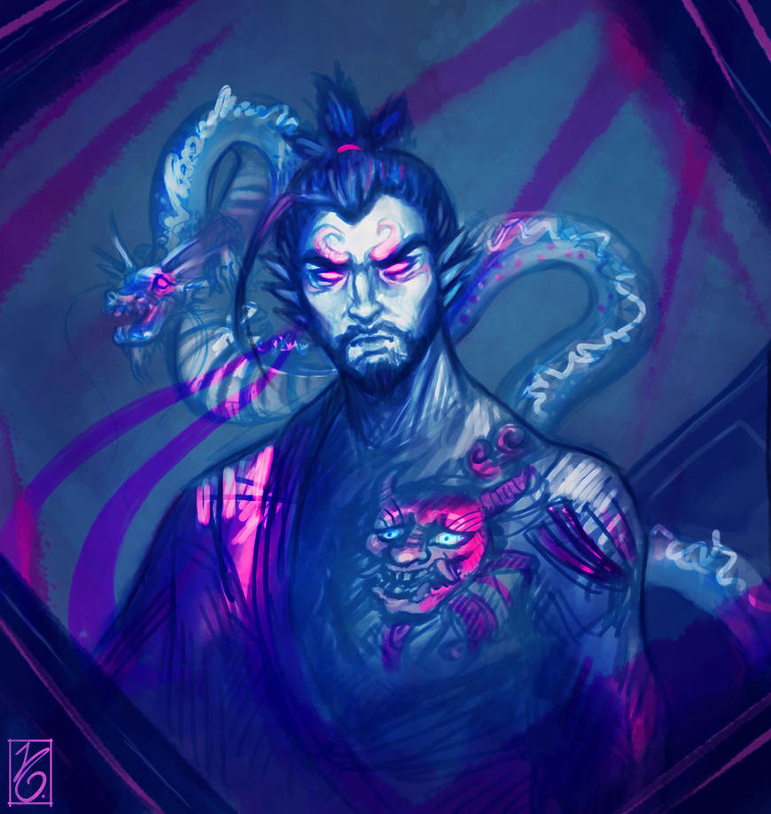 Hanzo Wallpaper: A Devil And A Dragon By JuditG On DeviantArt