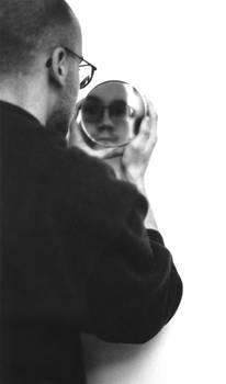 self portrait with mirror